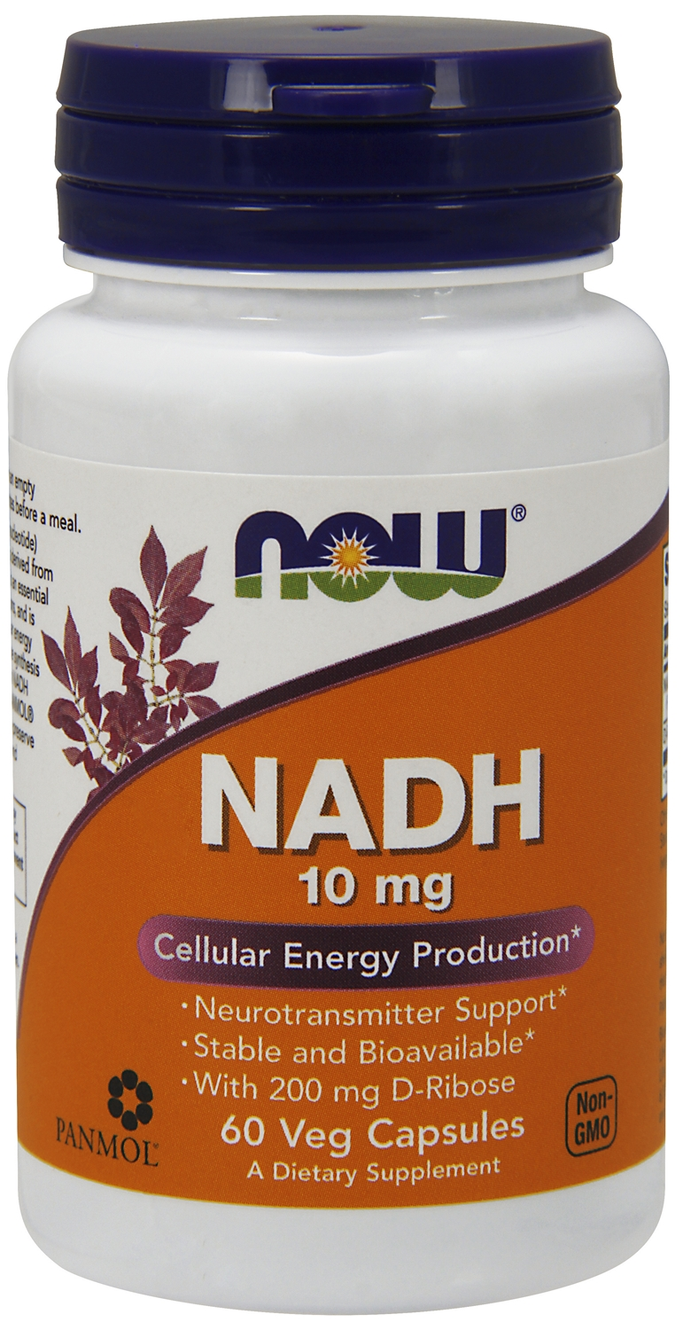 NADH 10 mg 60 Vcaps by NOW