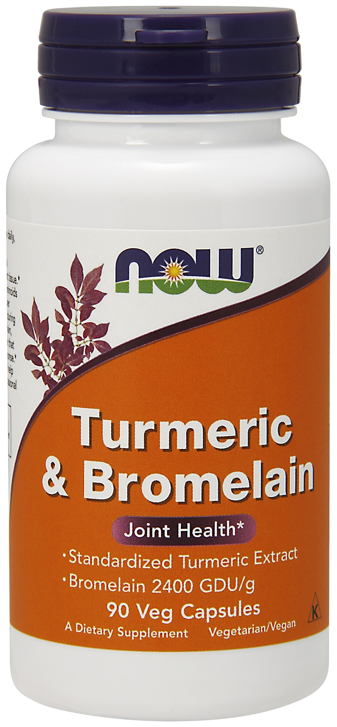 Turmeric & Bromelain 90 Vcaps by NOW