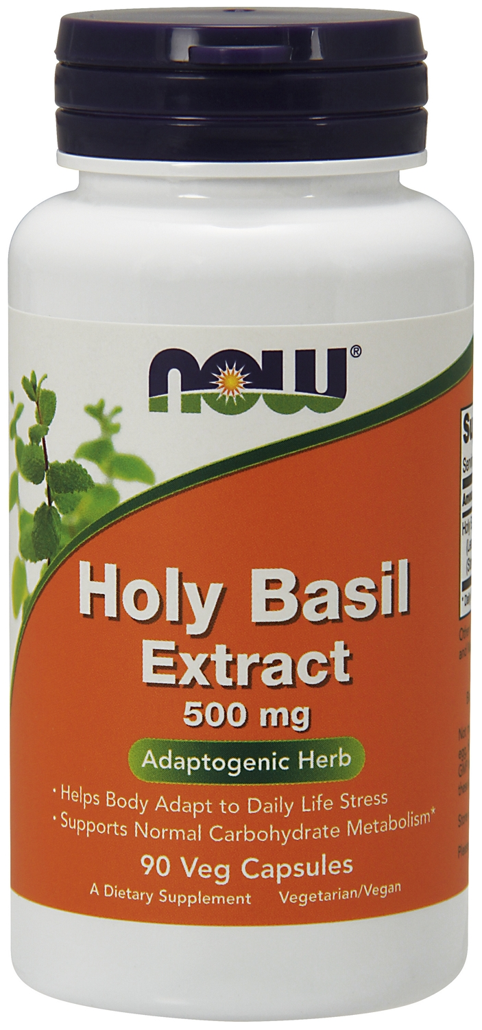 Holy Basil Extract 500 mg 90 Vcaps by NOW