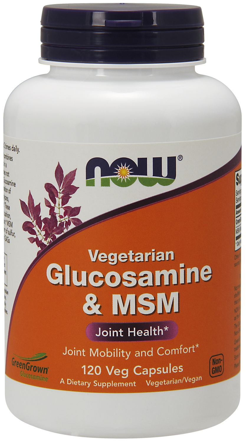 Glucosamine & MSM Vegetarian 240 Vcaps by NOW