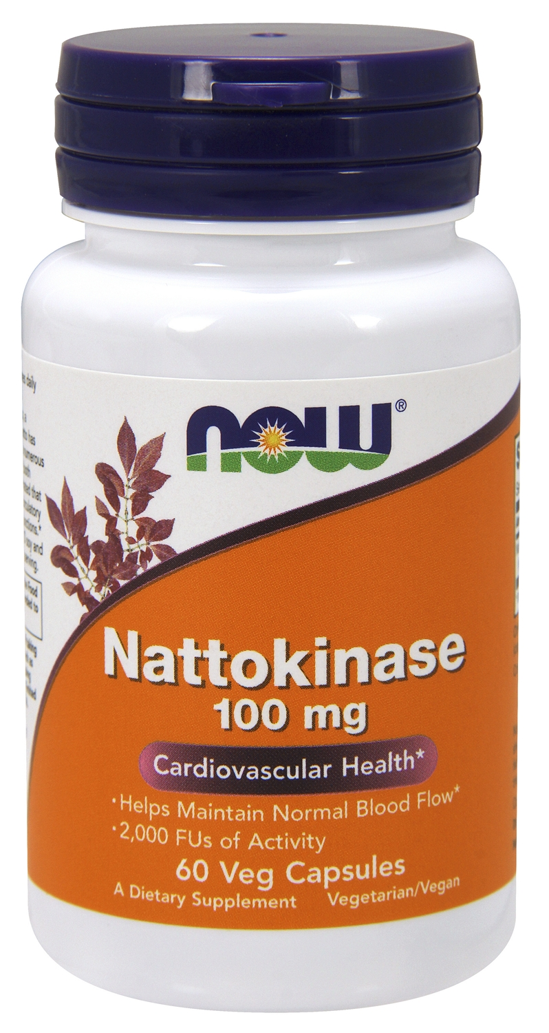 Nattokinase 100 mg 60 Vcaps by NOW