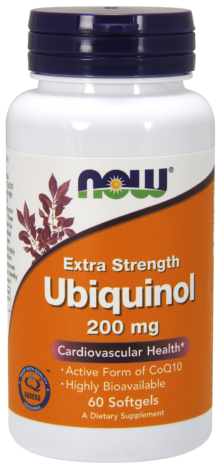 Ubiquinol 200 mg Extra Strength 60 sgels by NOW