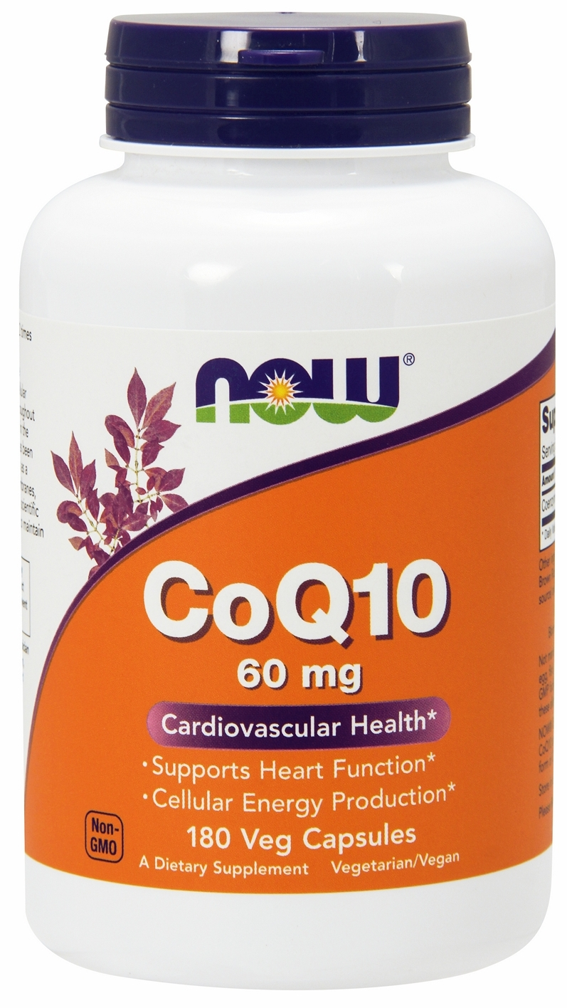 CoQ10 60 mg 180 Vcaps by NOW