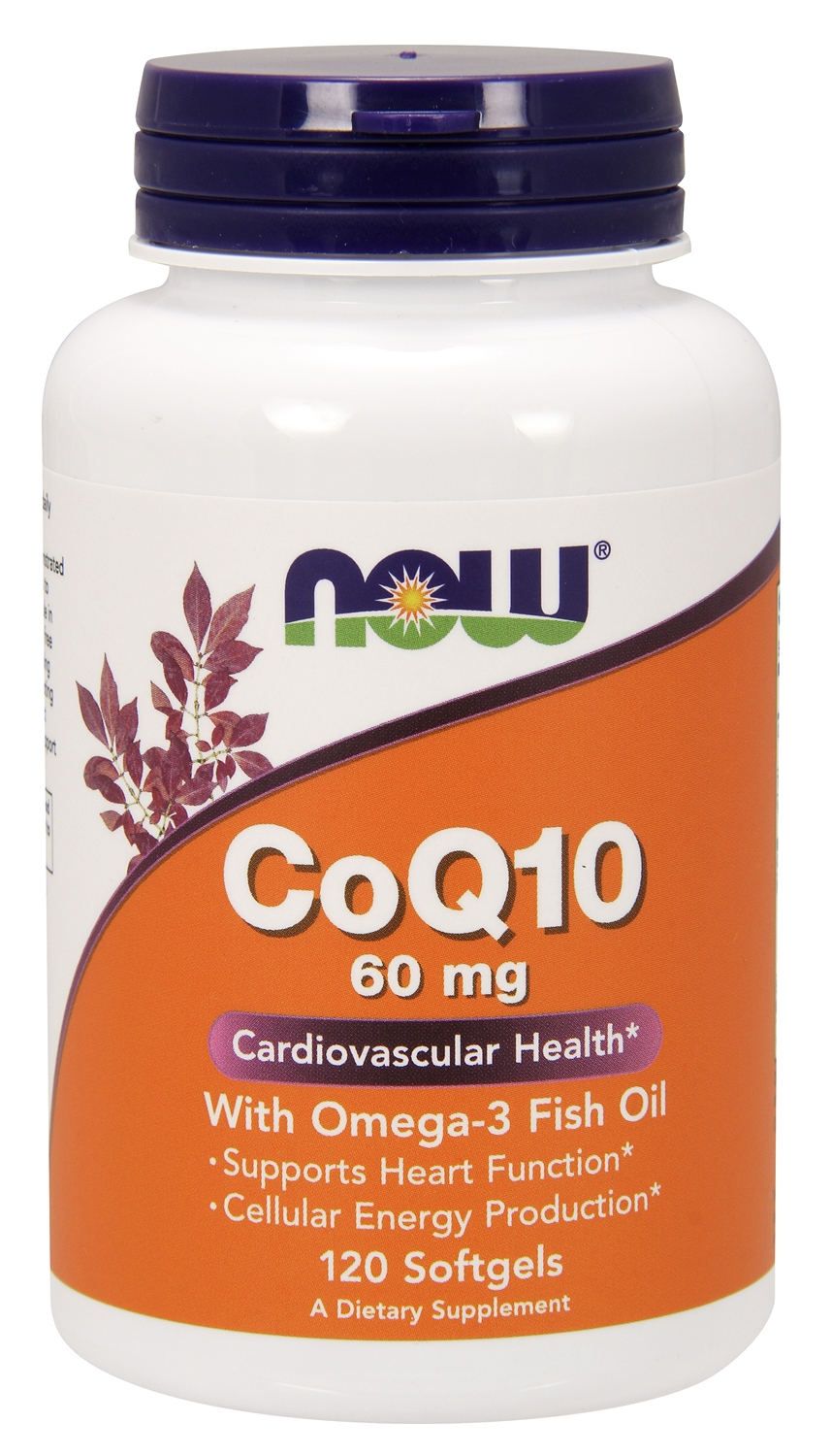 CoQ10 60 mg w/ Omega-3 Fish Oils 120 sgels by NOW