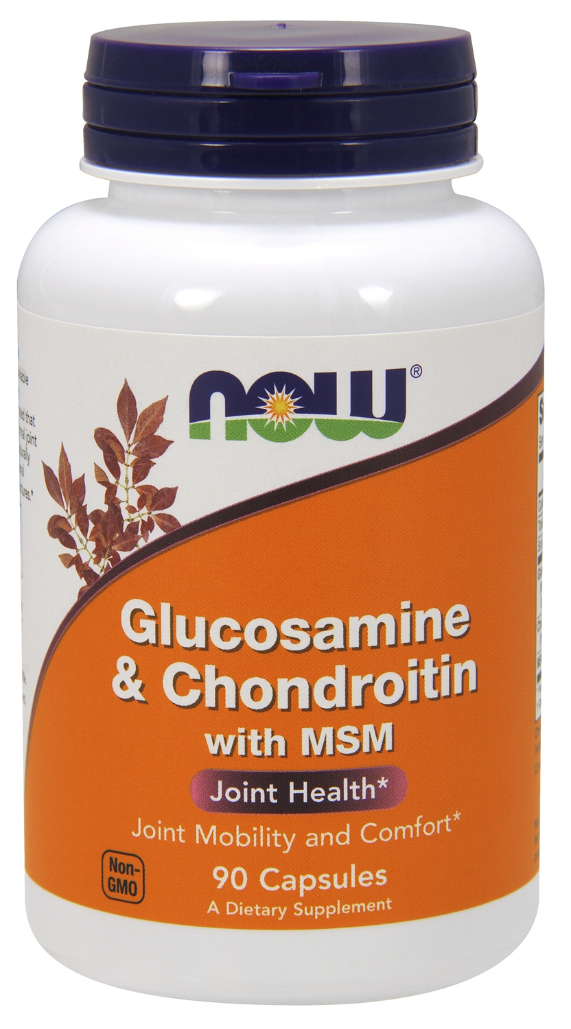 Glucosamine & Chondroitin with MSM 90 caps by NOW