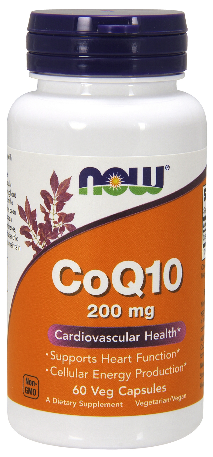 CoQ10 200 mg 60 Vcaps by NOW