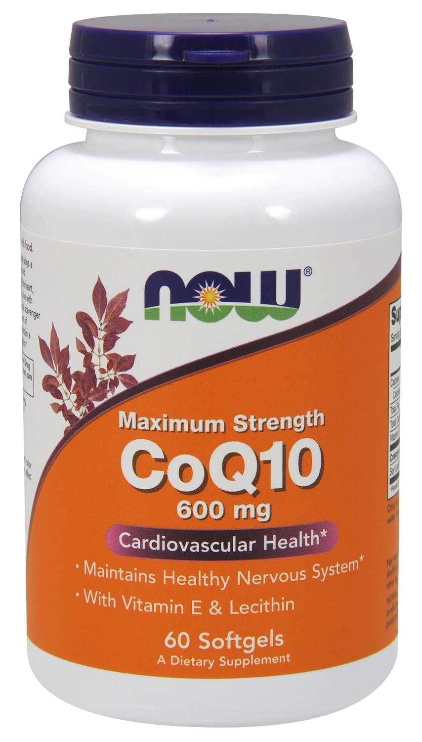 CoQ10 600 mg 60 sgels by NOW