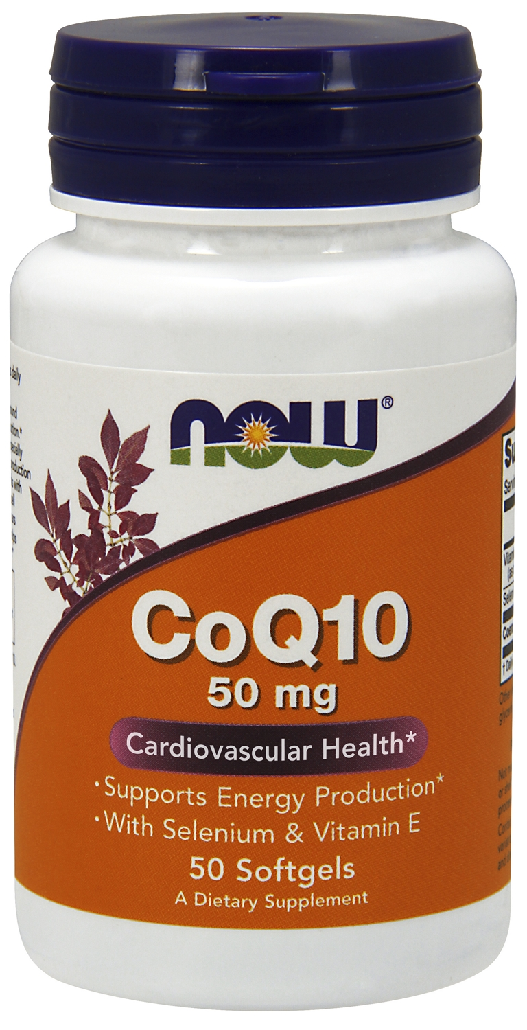 CoQ10 50 mg 200 sgels by NOW