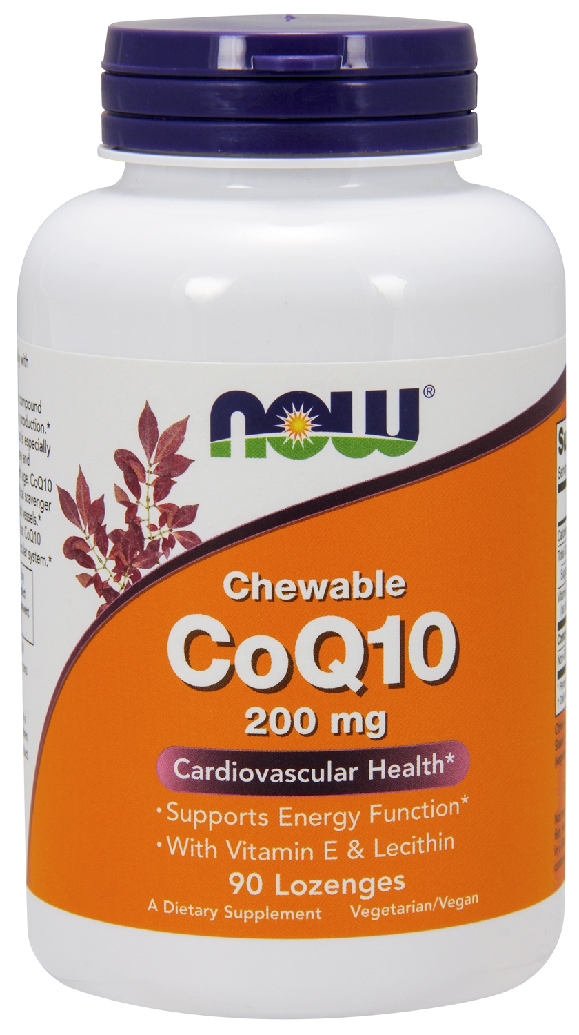 CoQ10 200 mg 90 Lozenges by NOW