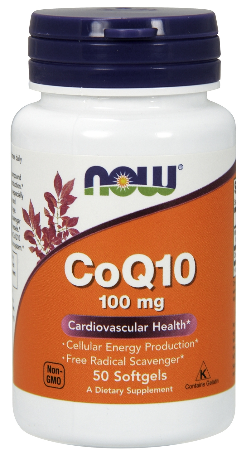 CoQ10 100 mg 50 sgels by NOW