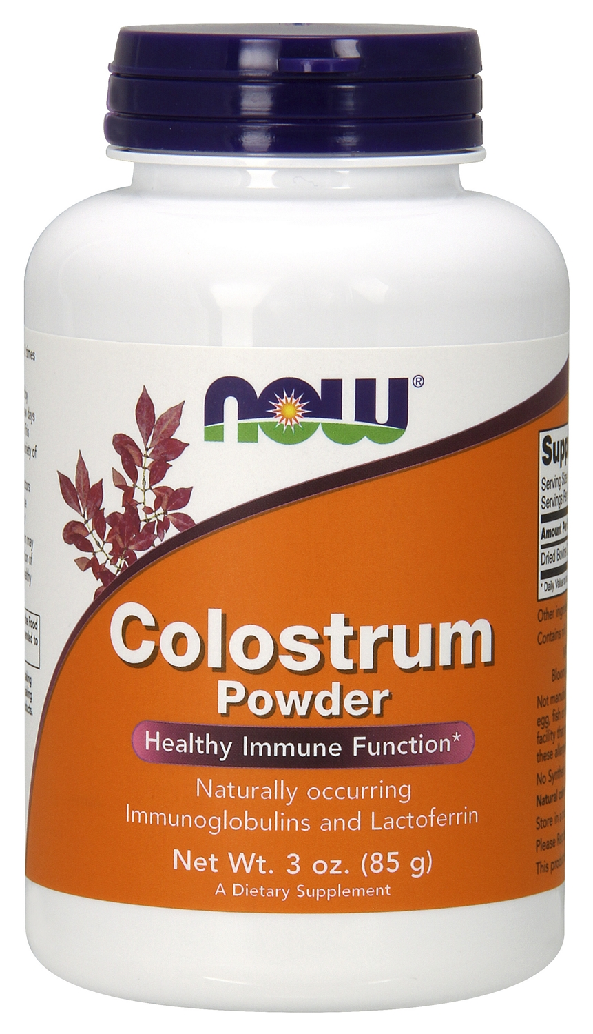 Colostrum 100% Pure Powder 3 oz (85 g) by NOW