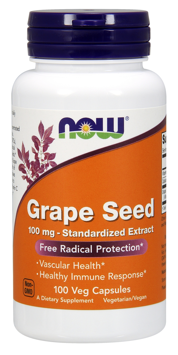 Grape Seed Standardized Extract 100 mg 100 Vcaps by NOW