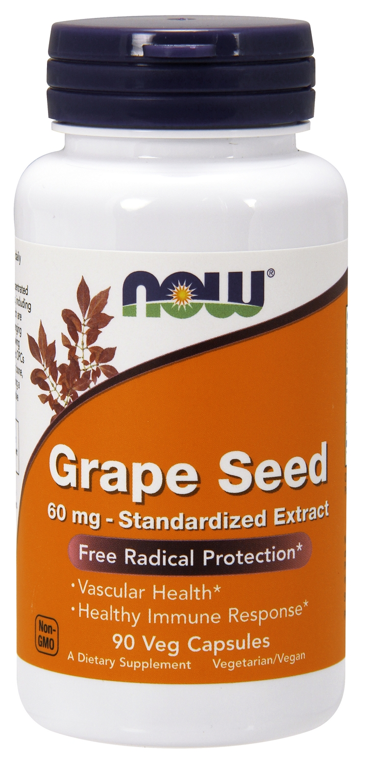 Grape Seed Standardized Extract 60 mg 180 caps by NOW
