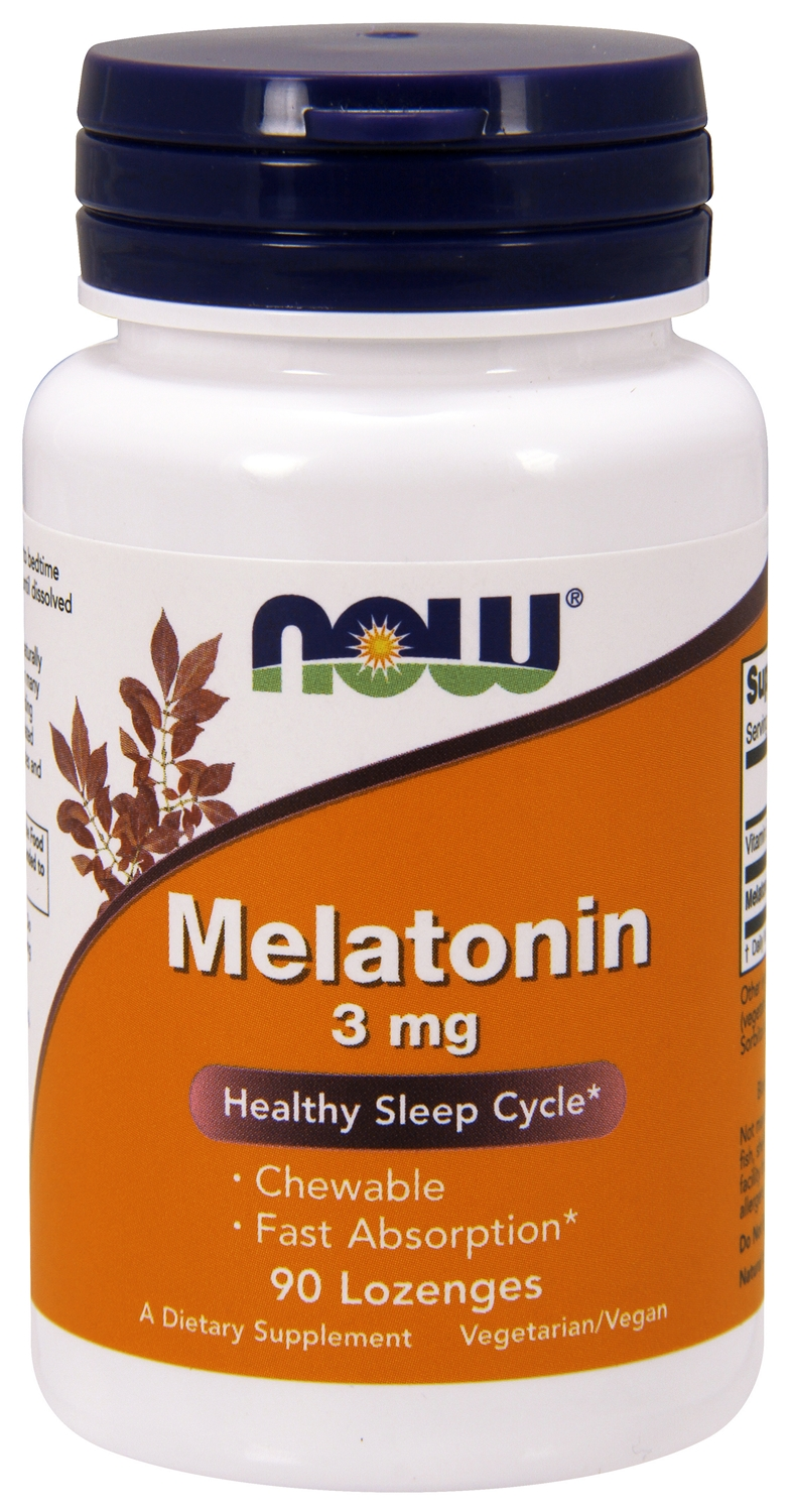 Melatonin Chewable 3 mg 90 Lozenges by NOW Foods