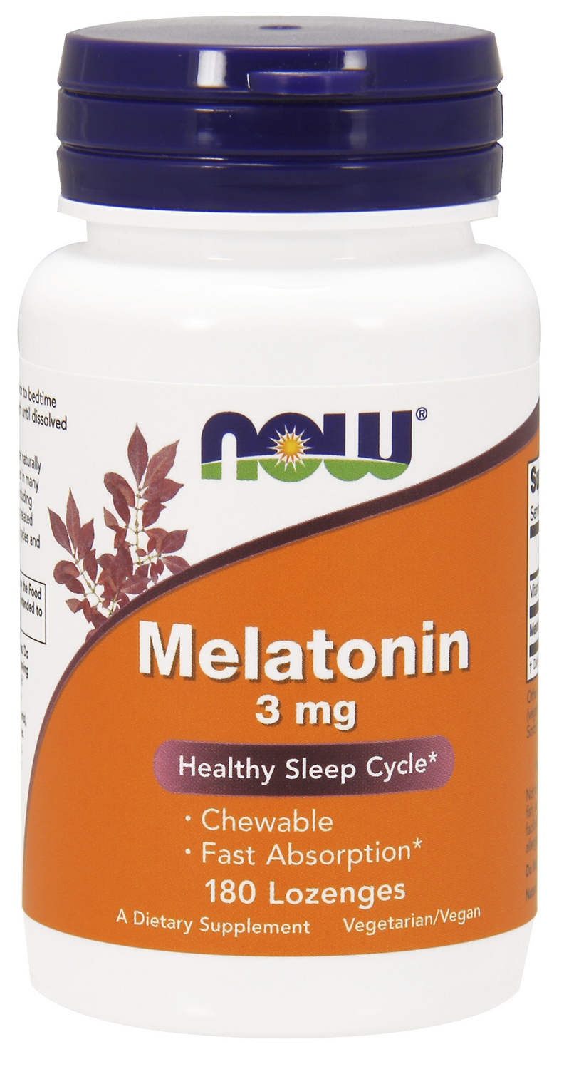 Melatonin Chewable 3 mg 180 Lozenges by NOW