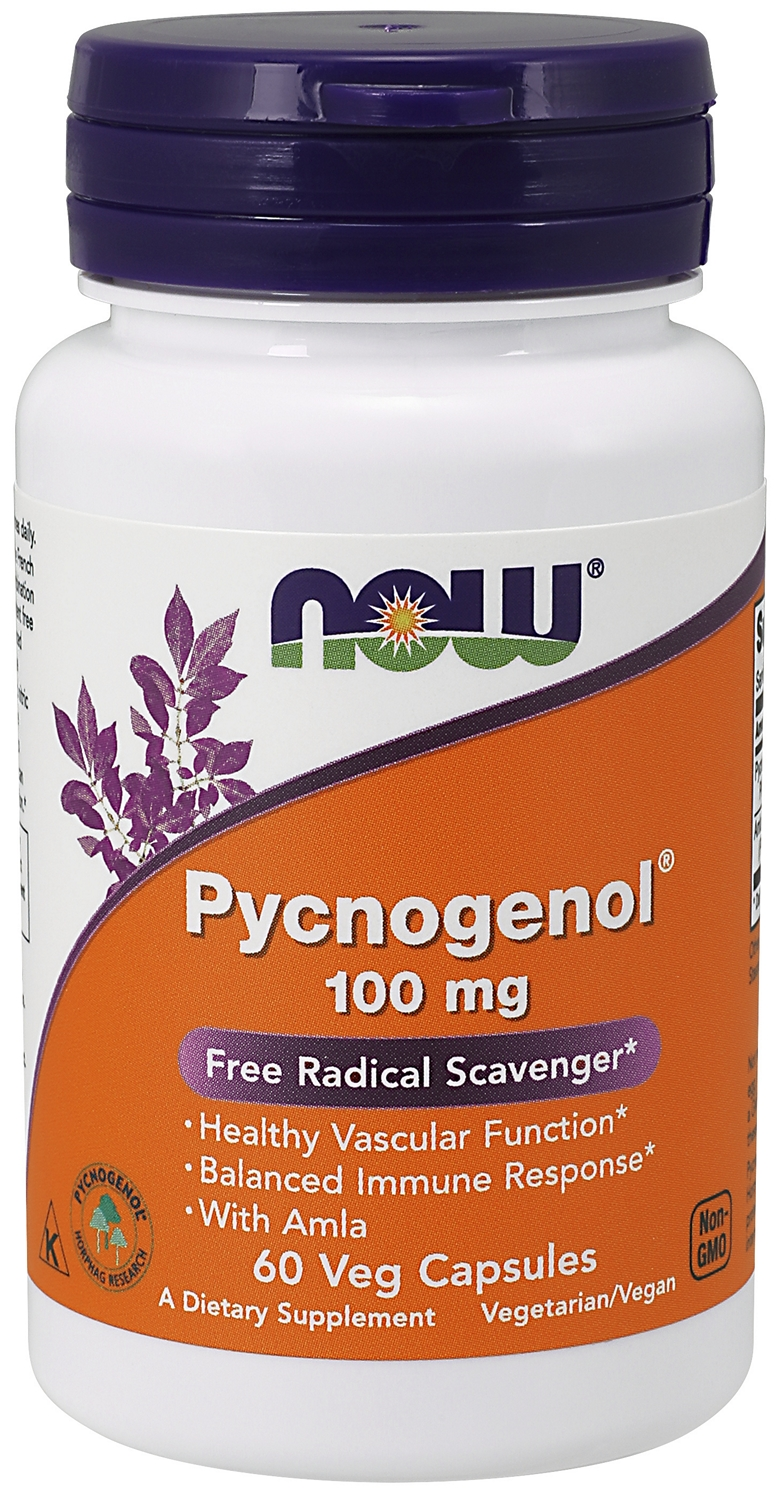 Pycnogenol 100 mg 60 Vcaps by NOW