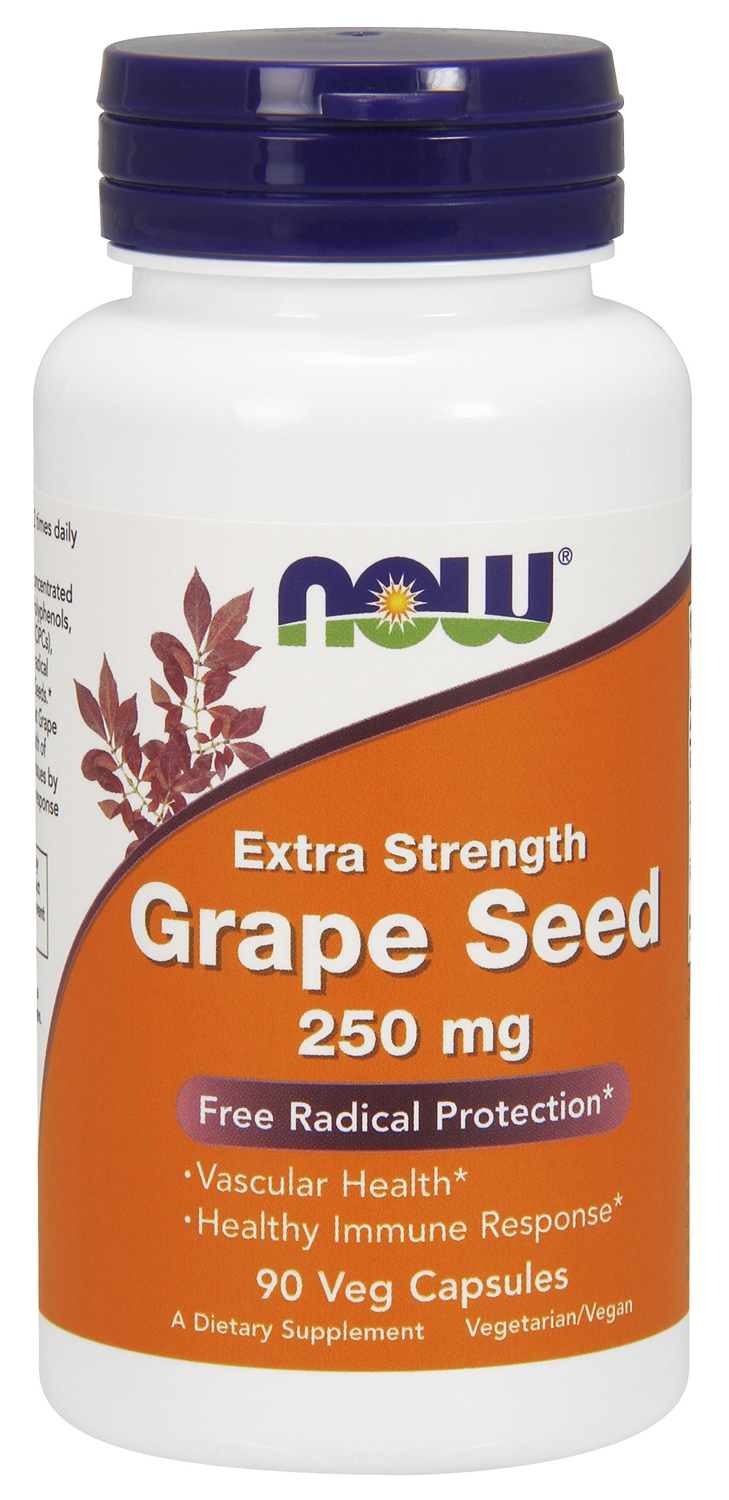 Grape Seed Mega Potency 250 mg 90 Vcaps by NOW