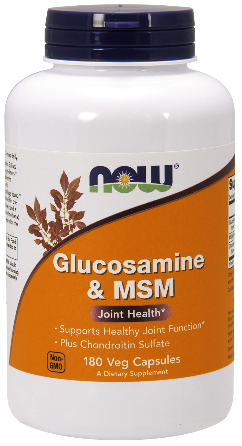 Glucosamine & MSM 180 caps by NOW