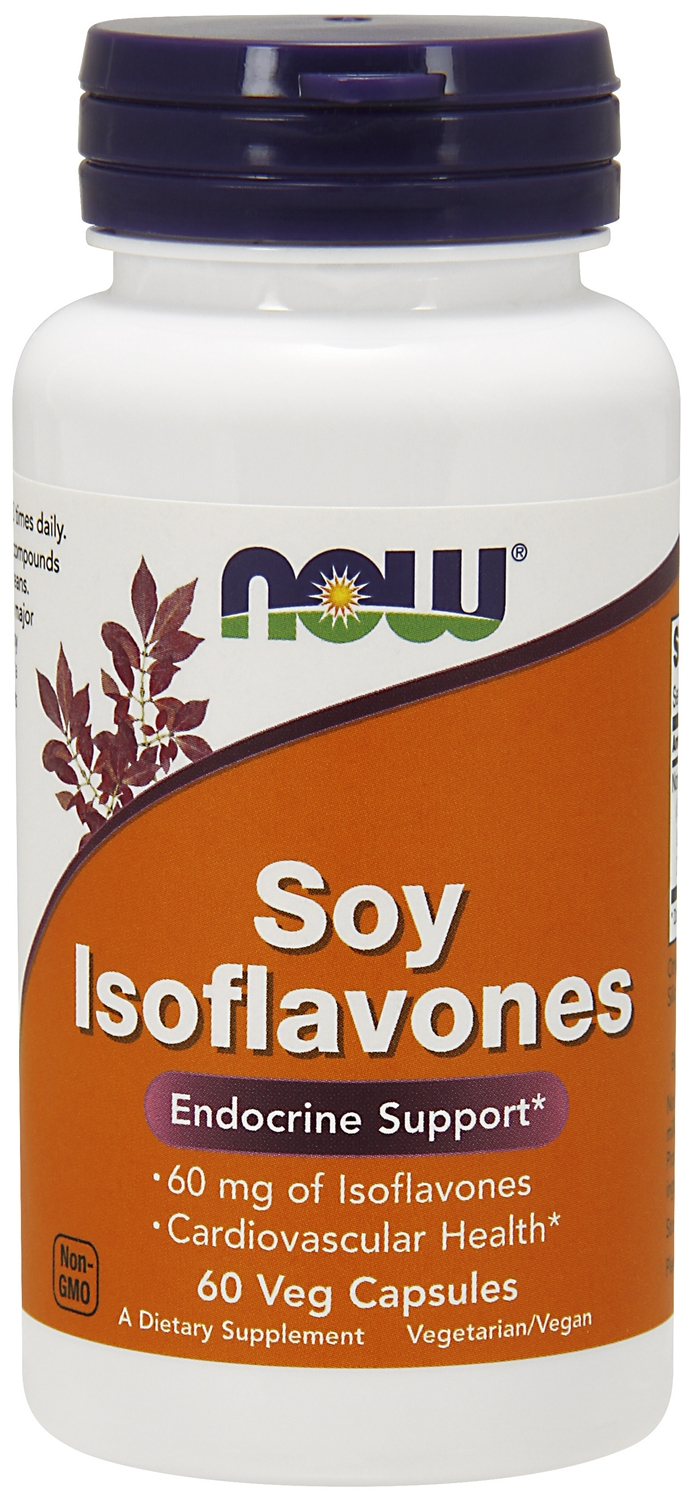Soy Isoflavones Extra Strength 60 Vcaps by NOW