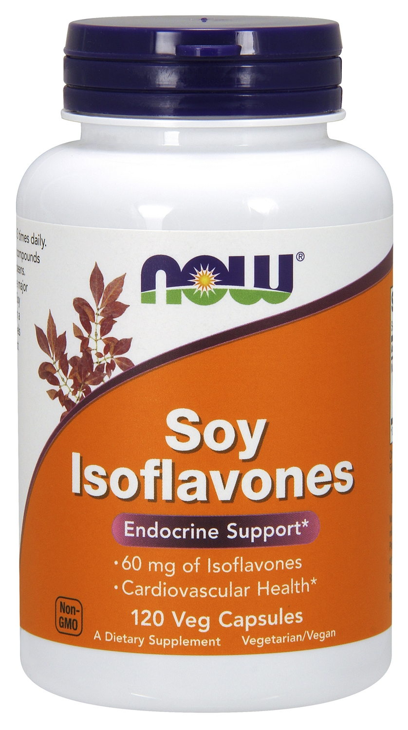 Soy Isoflavones Extra Strength 120 Vcaps by NOW