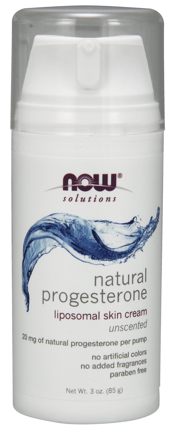Natural Progesterone Liposomal Skin Cream 3 oz by NOW