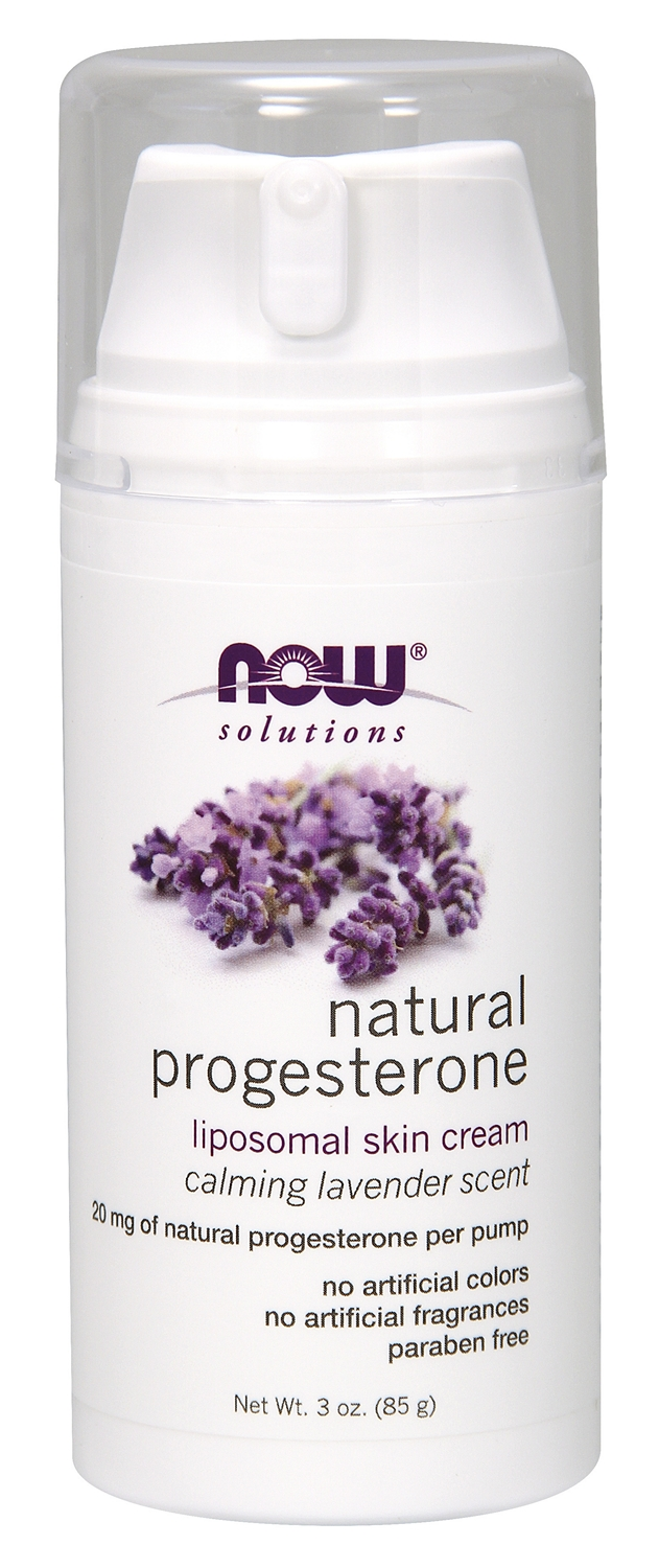 Natural Progesterone Liposomal Skin Cream Calming Lavender 3 oz (85 g) by NOW