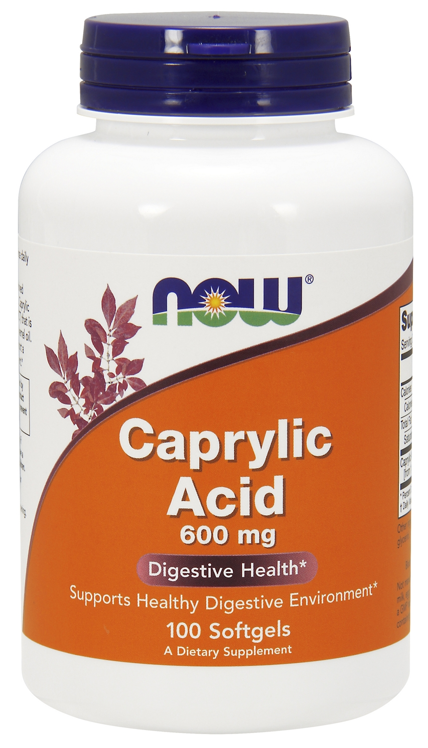 Caprylic Acid 600 mg 100 sgels by NOW