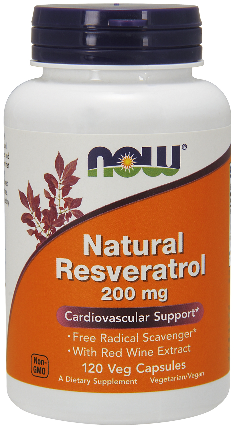 Natural Resveratrol 200 mg 120 Vcaps by NOW
