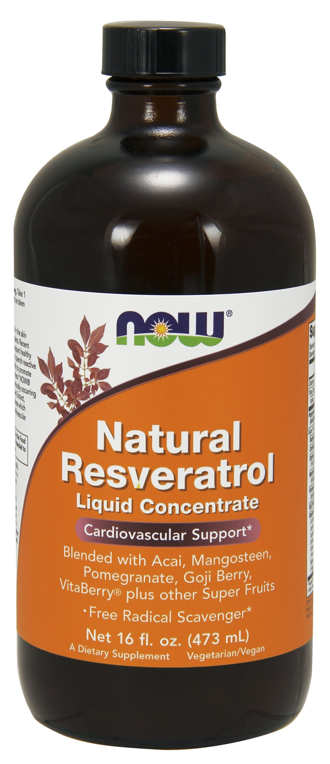 Natural Resveratrol Liquid Concentrate 16 fl oz (473 ml) by NOW