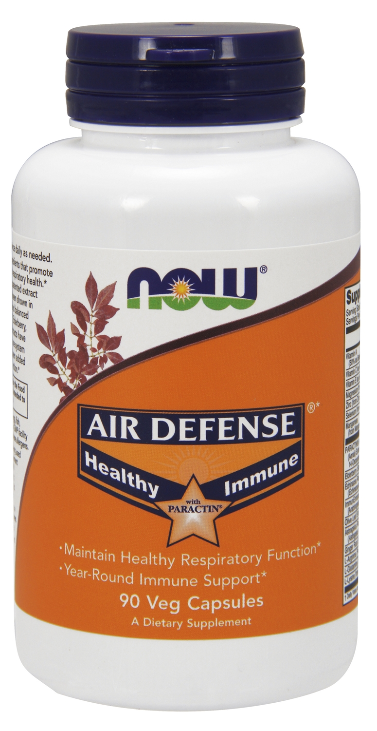 Air Defense Immune Booster with Paractin 90 Vcaps by NOW