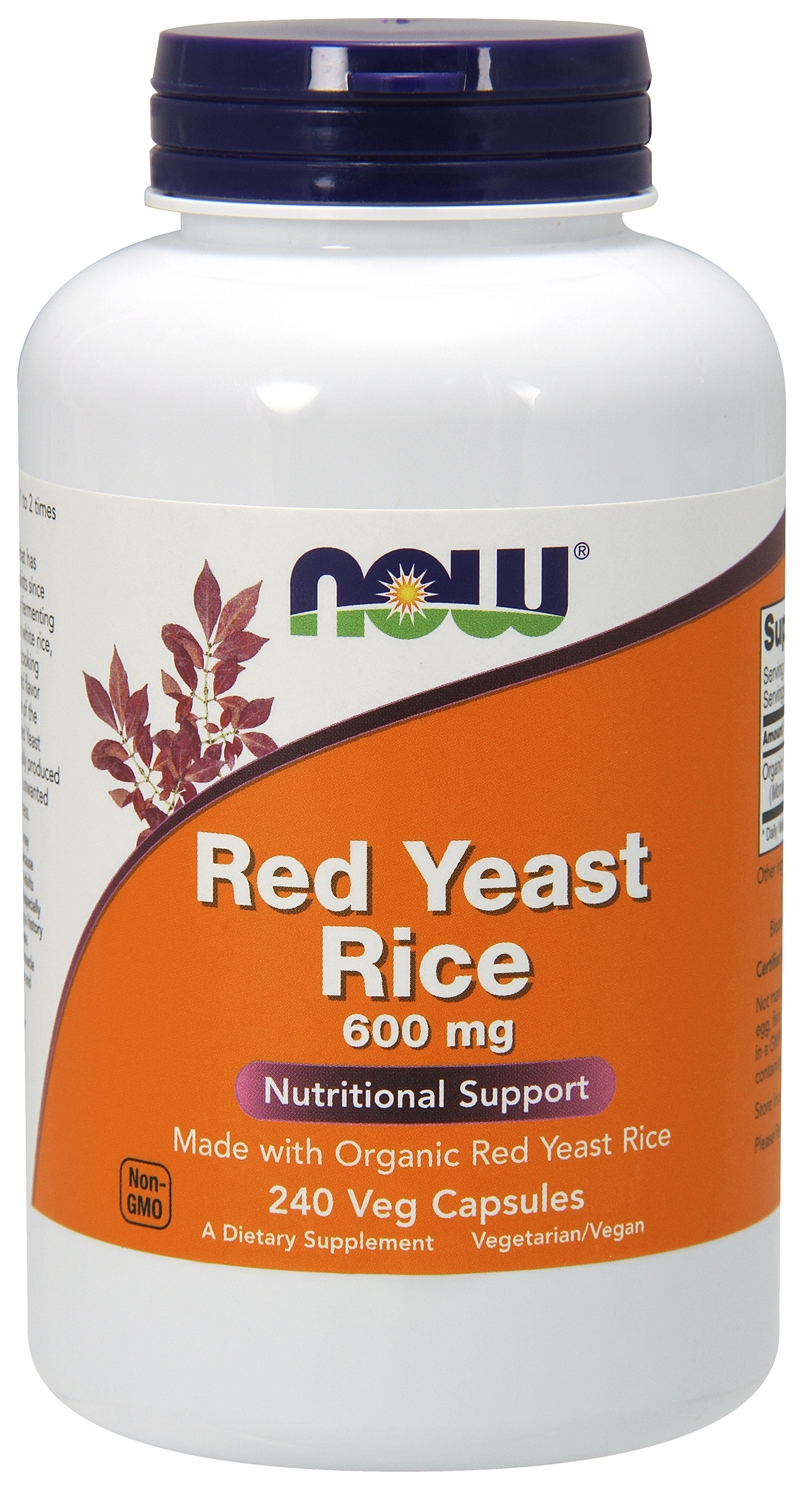 Red Yeast Rice 600 mg 120 Vcaps by NOW