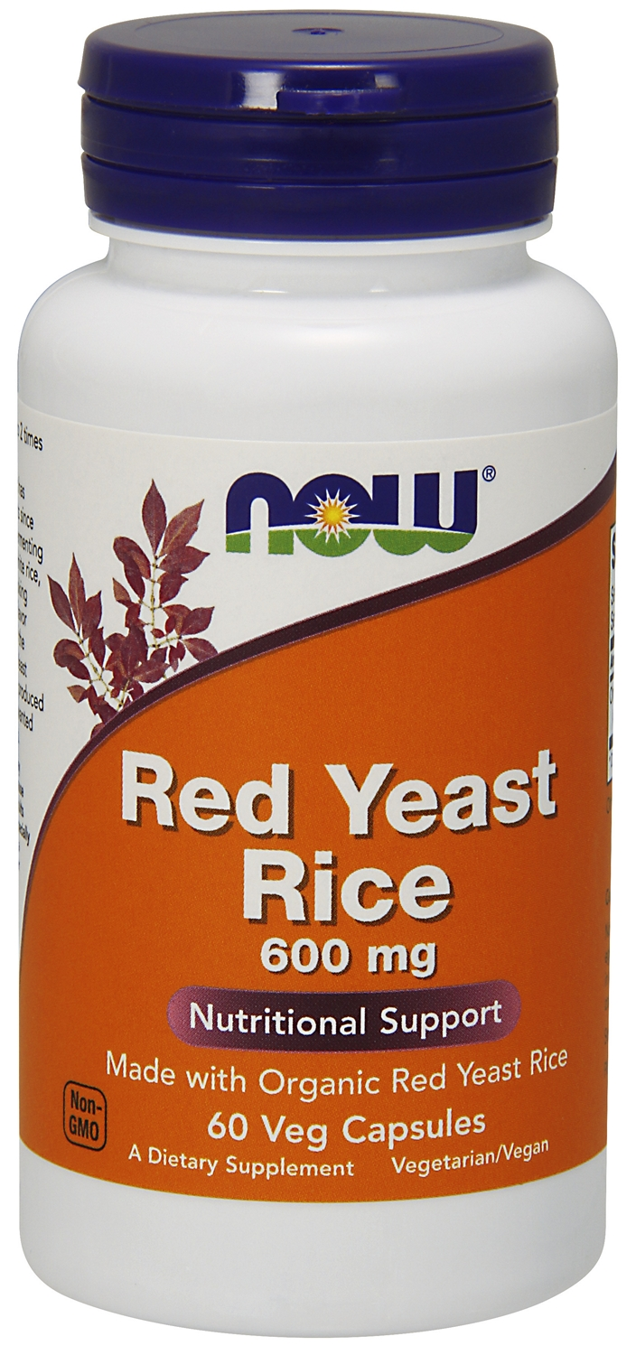 Red Yeast Rice 600 mg 60 Vcaps by NOW Foods
