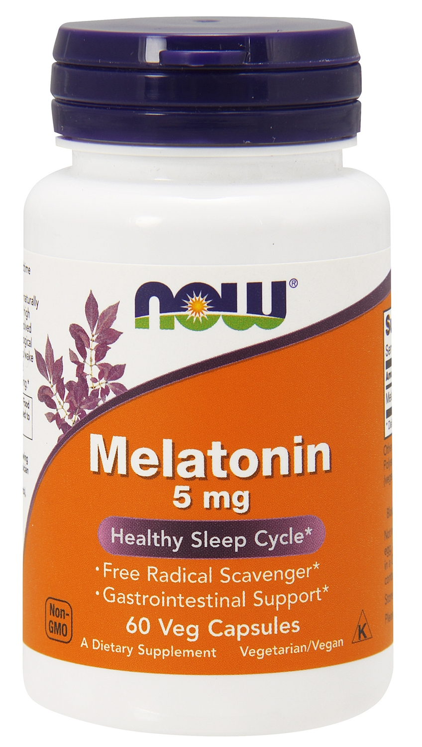 Melatonin High Potency 5 mg 60 Vcaps by NOW Foods