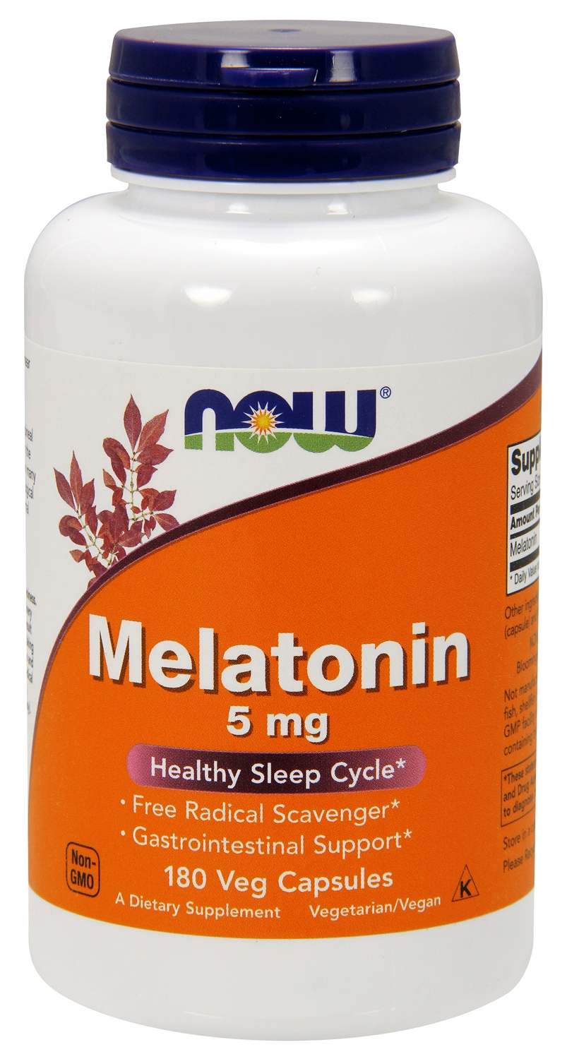 Melatonin High Potency 5 mg 180 Vcaps by NOW