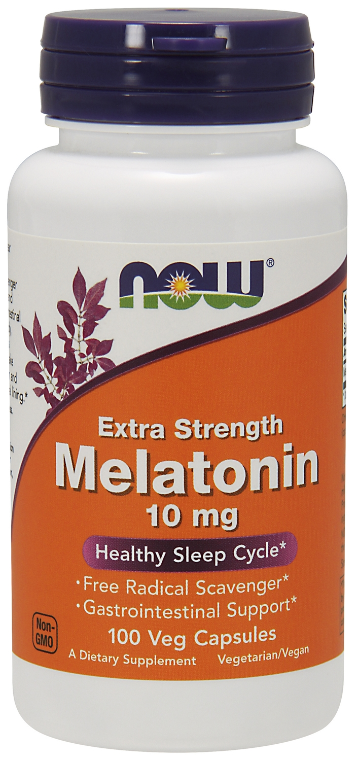 Melatonin Extra Strength 10 mg 100 Veg caps by NOW