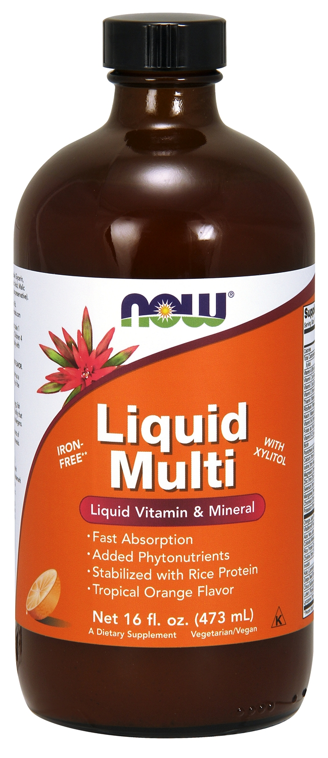 Liquid Multi Tropical Orange Flavor 16 fl oz (473 ml) by NOW