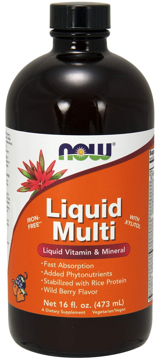 Liquid Multi Wild Berry Flavor 16 fl oz (473 ml) by NOW