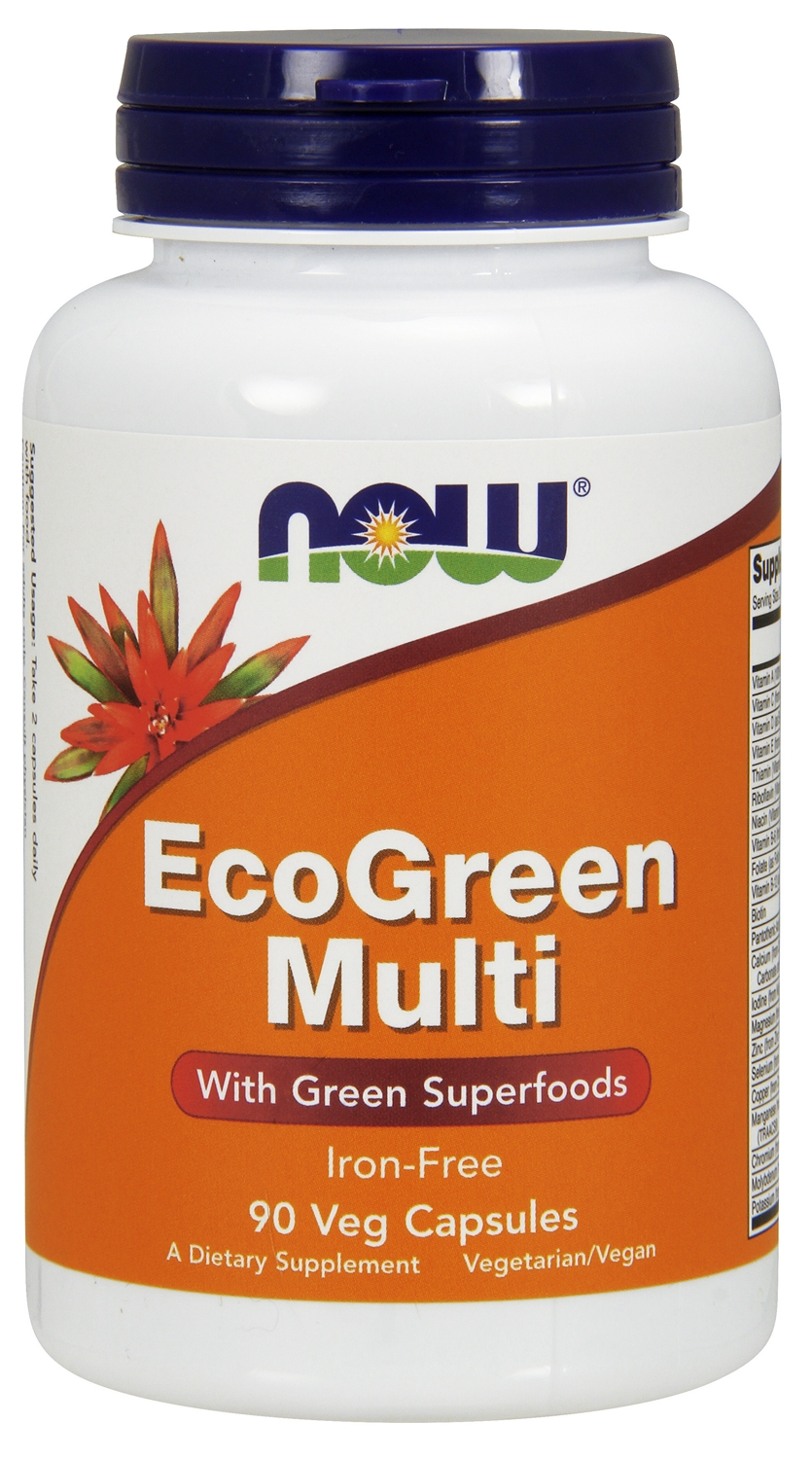EcoGreen Multi Iron-Free 90 Vcaps by NOW Foods