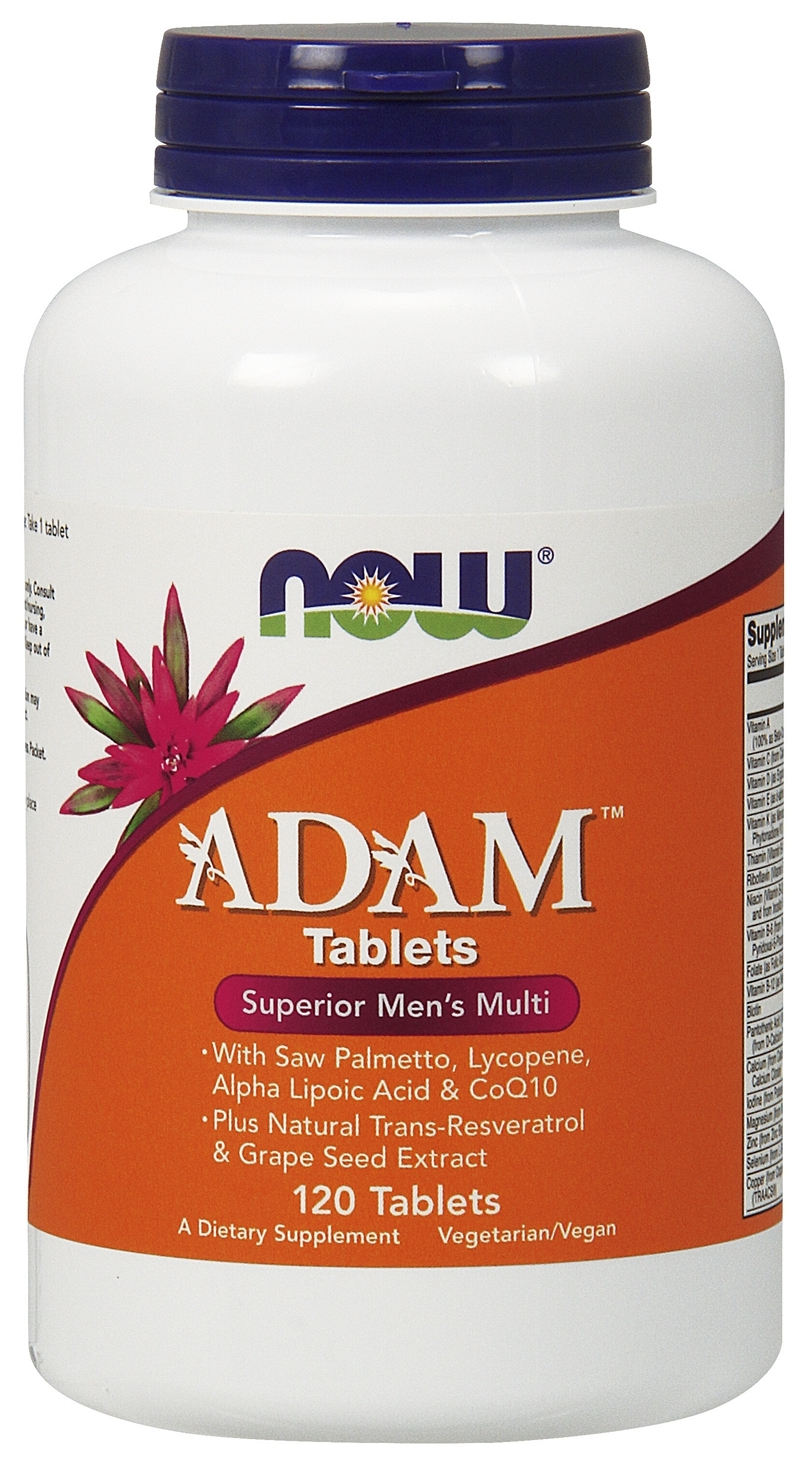 ADAM Superior Men's Multiple 120 tabs by NOW