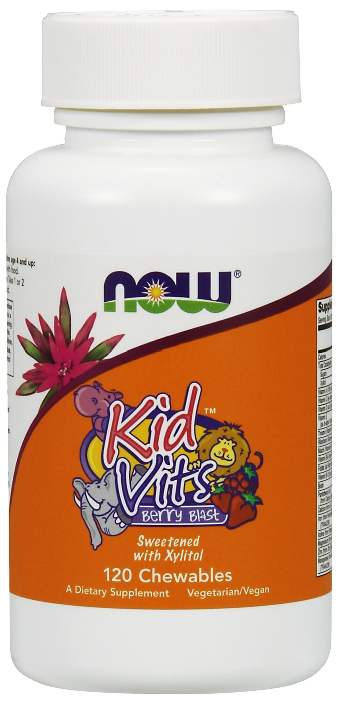 Kid Vits Berry Blast 120 Chewables by NOW
