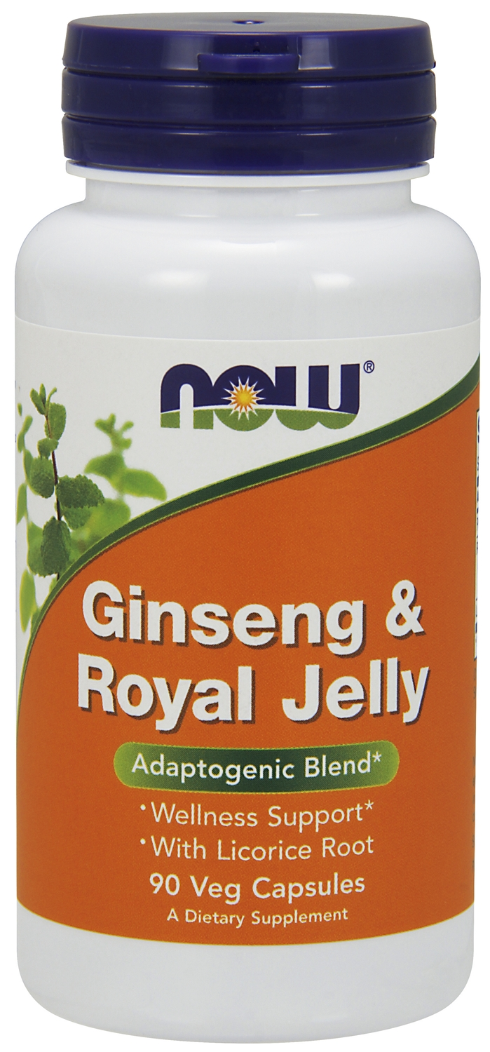 Ginseng & Royal Jelly 90 caps by NOW