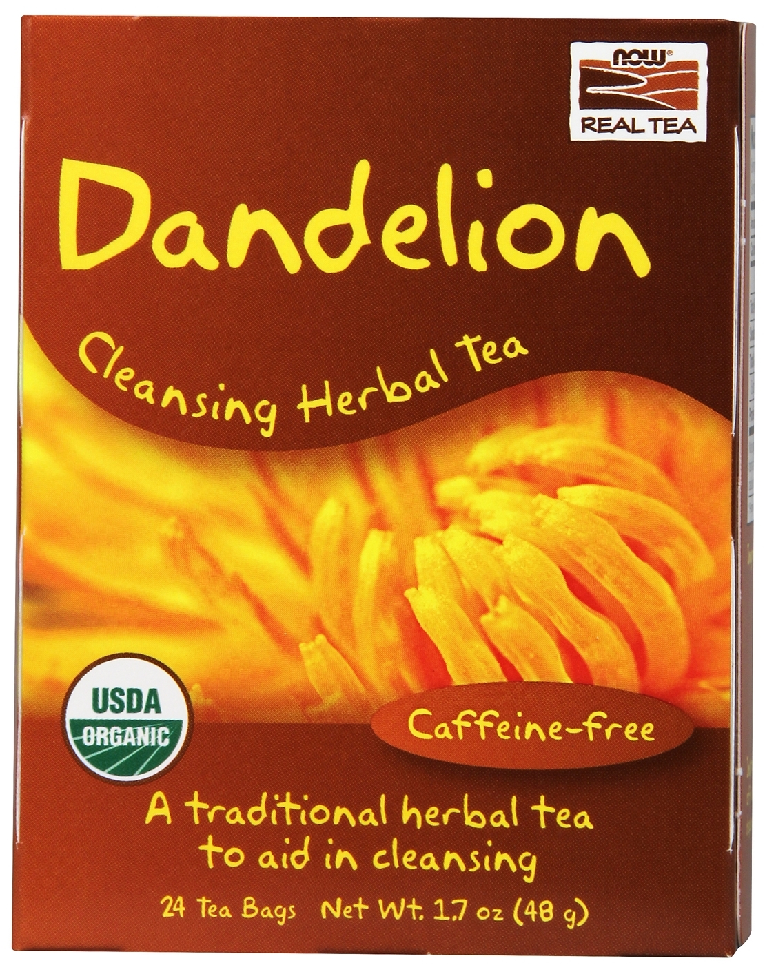 Dandelion Cleansing Herbal Tea 24 Tea Bags by NOW Foods