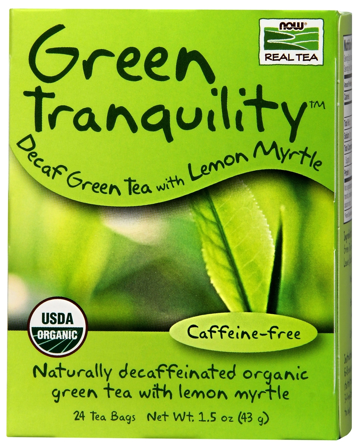 Green Tranquility Tea 24 Tea Bags by NOW Foods
