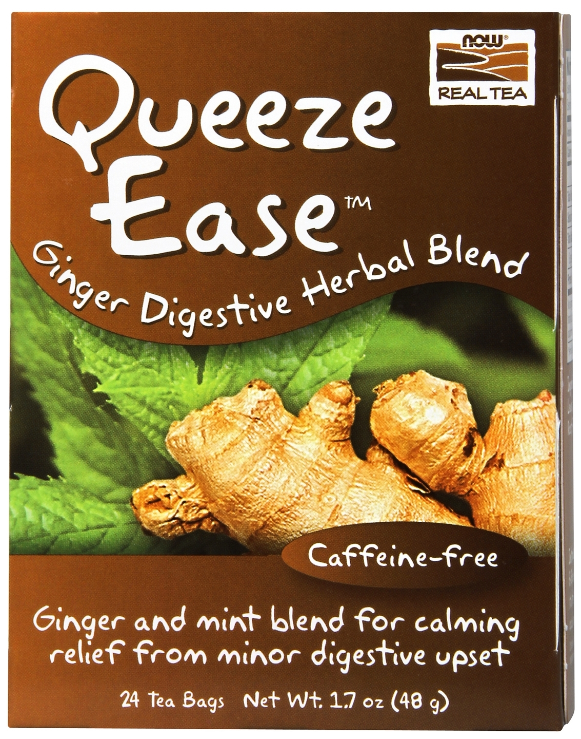 Queeze Ease Tea 24 Tea Bags by NOW