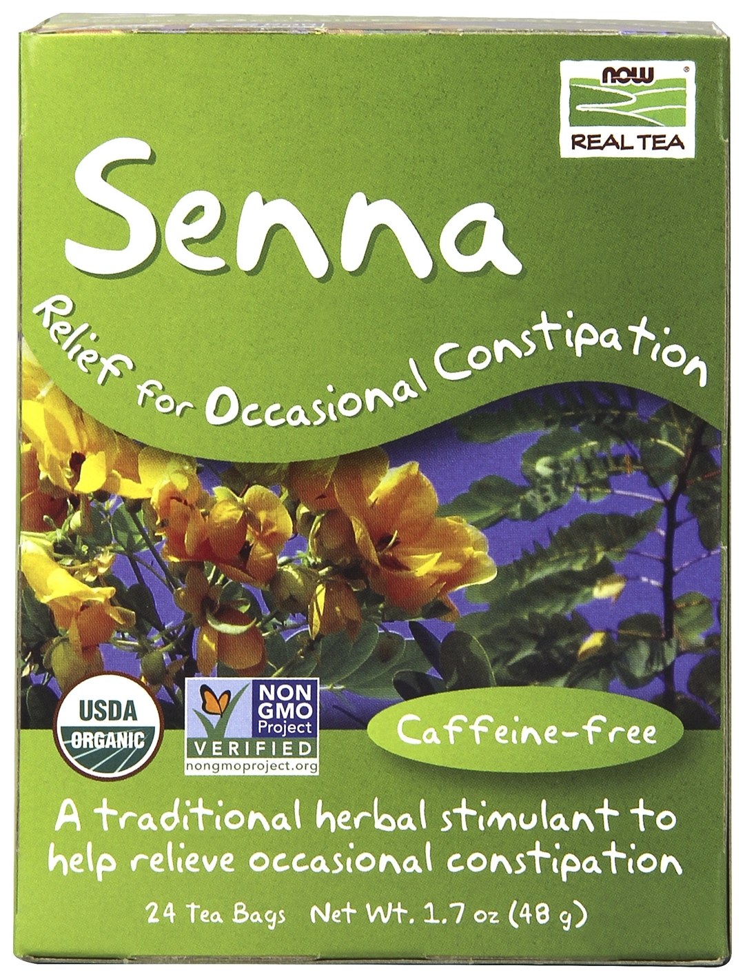 Senna Tea 24 Tea Bags by NOW