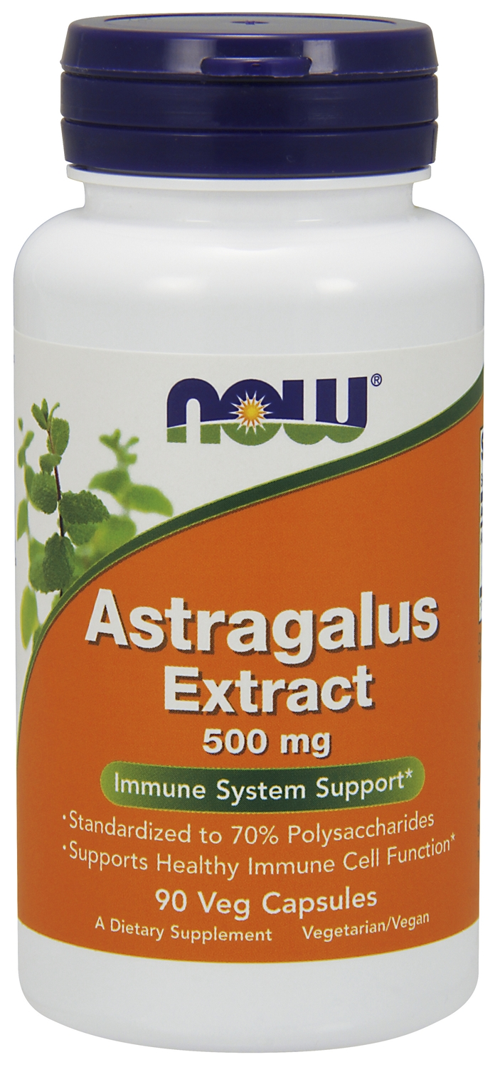 Astragalus Extract 500 mg 90 Vcaps by NOW