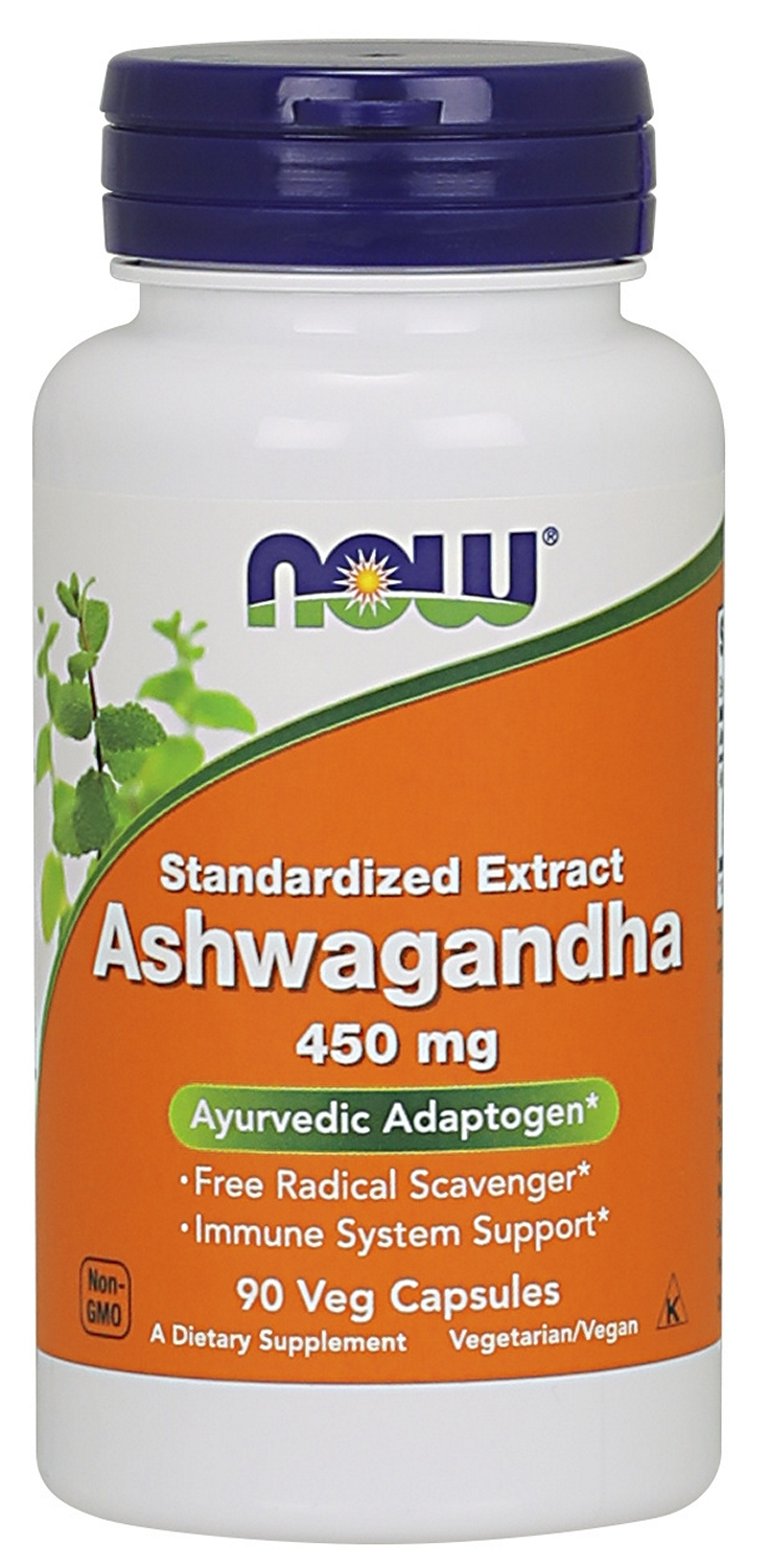 Ashwagandha Extract 450 mg 90 Veg Caps by NOW