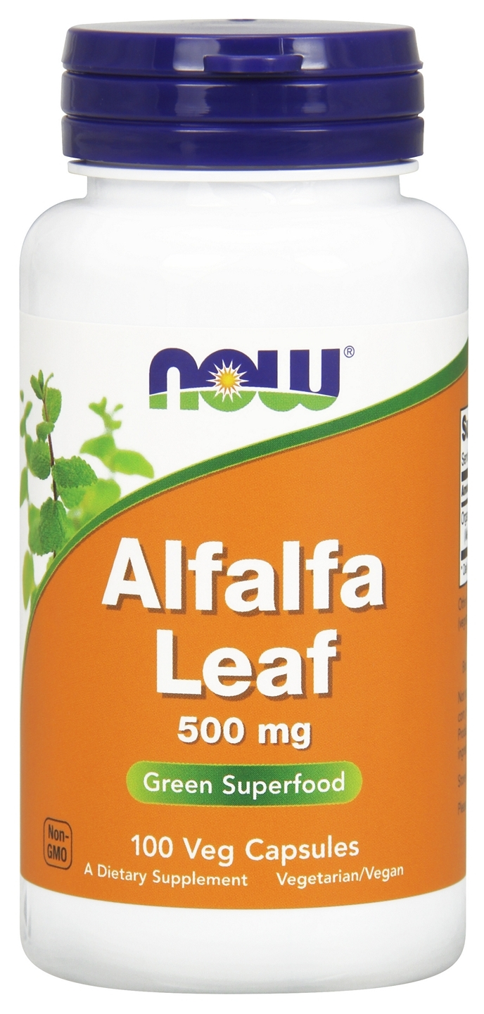 Alfalfa Leaf 500 mg 100 caps by NOW