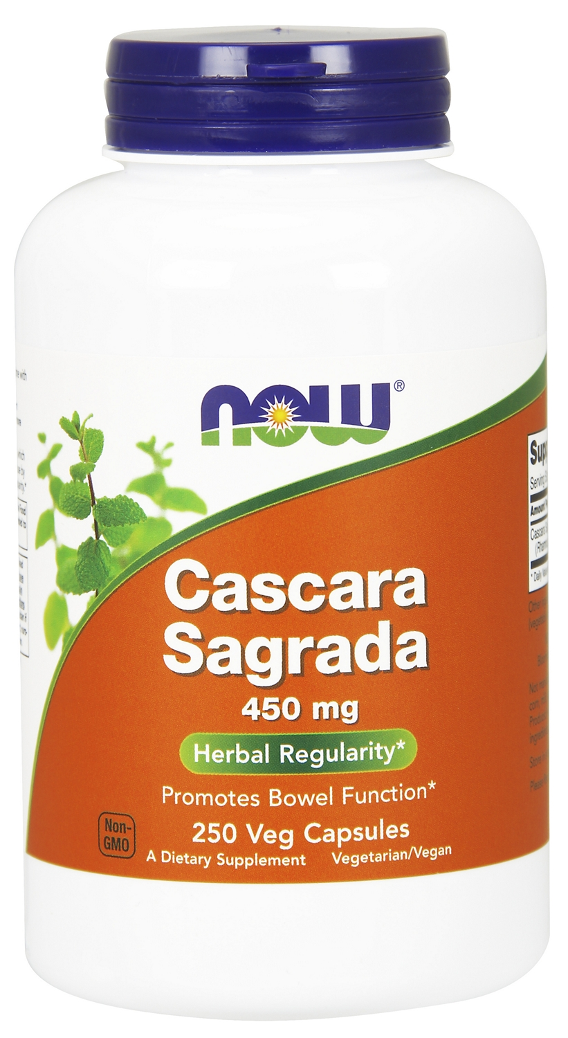 Cascara Sagrada 450 mg 250 caps by NOW