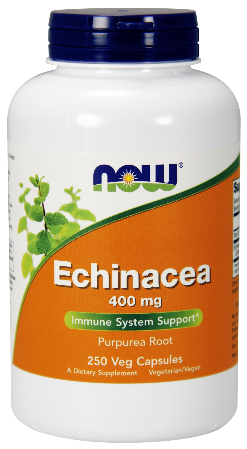Echinacea Purpurea Root 400 mg 250 caps by NOW